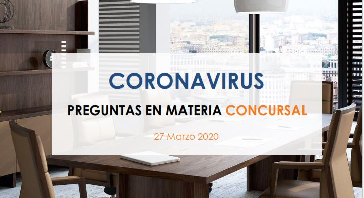 coronavirus preguntas en materia concursal